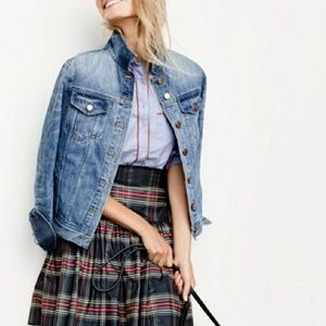 J. Crew Taffeta Skirt Stewart plaid